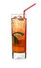 The Manana drink is made from rum, Passoa, Galliano, lime and lemon-lime soda, and served in a highball glass.