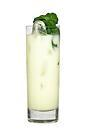 The Midori 43 drink is made from Midori Melon Liqueur, Licor 43 and milk, and served in a highball glass.