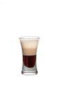 The Mud Slide shot is made by layering equal amounts of vodka, Kahlua and Baileys in a shot glass. To layer the ingredients, slowly pour them over the back of a chilled spoon into the glass.