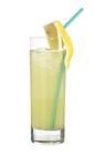 The Olis drink is made from citrus rum (aka Bacardi Limon), lemon-lime soda and sour mix, and served in a highball glass.