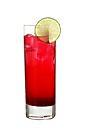 The Redneck drink is made from vodka, grenadine and lime juice, and served in a highball glass.