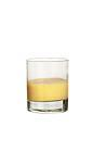 The Grouse Egg drink is made from whiskey and Advocaat egg liqueur, and served in an old-fashioned glass.