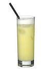 The Royal Fizz drink is made from gin, lemon juice, sugar and egg, and served in a highball glass.