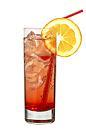 The classic Shirley Temple drink is made from ginger ale and grenadine, and served in a highball glass.