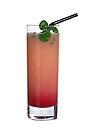 The So Dem A Com drink is made from white rum, Passoa, grenadine and guanabana juice, and served in a highball glass.