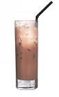The Spurs Scores drink is made from cognac and chocolate milk, and served in a highball glass.