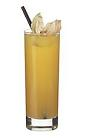 The Troja drink is made from whiskey, amaretto, Cointreau and orange juice, and served in a highball glass.