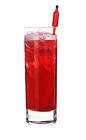 The Walking The Plank drink is made from Southern Comfort, bourbon and cranberry juice, and served in a highball glass.