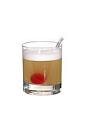 The Whisky Sour drink is made from whiskey, lemon juice and sugar, and served in an old-fashioned glass.