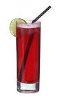 The Woo Woo drink is made from vodka, peach liqueur and cranberry juice, and served in a highball glass.