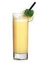 The Yellow Cab dirnk is made from whiskey, Advocaat, Sockerlag and fresh lemon juice, and served in a highball glass.